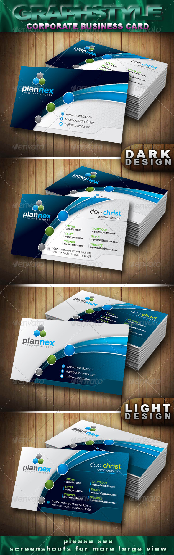 GraphicRiver Plannex Corporate Business Card 4252651