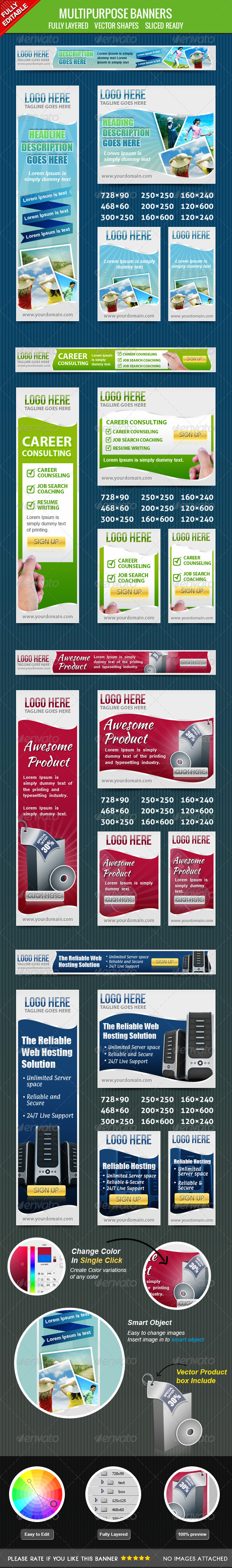 GraphicRiver Multiporpose Banners 4410052