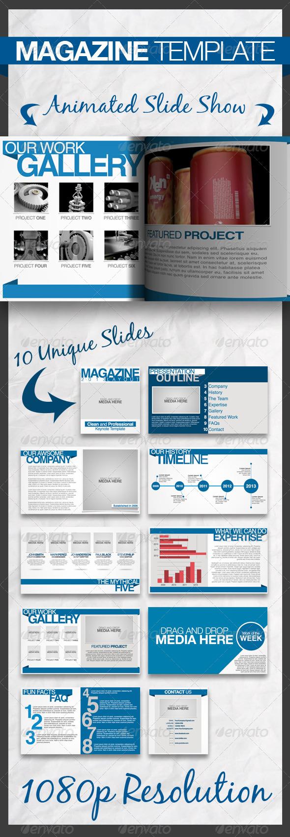 GraphicRiver Magazine Keynote Presentation Template 4293880