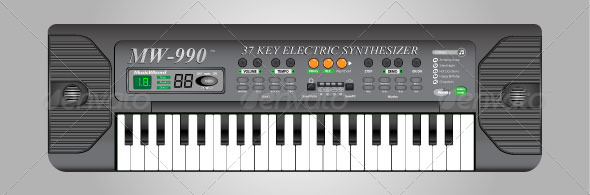 GraphicRiver Electric Keyboard 4356234