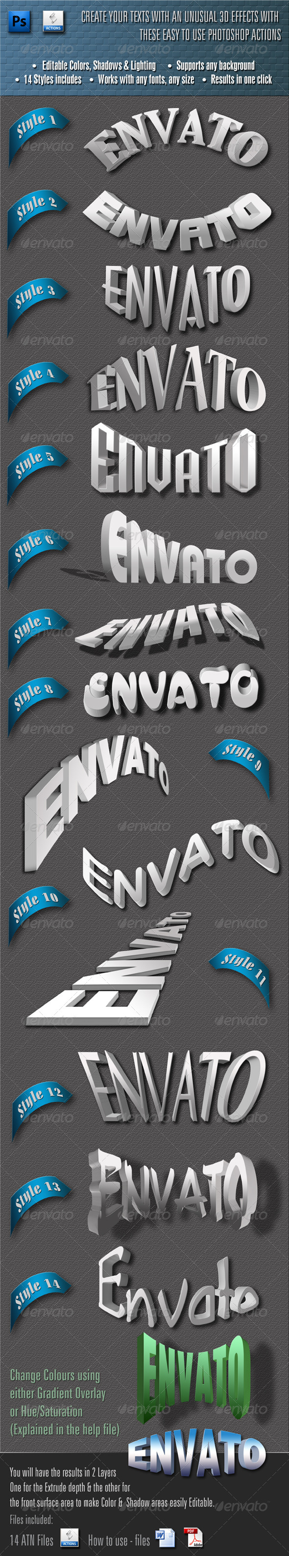 GraphicRiver Exceptional 3D Text 4410582
