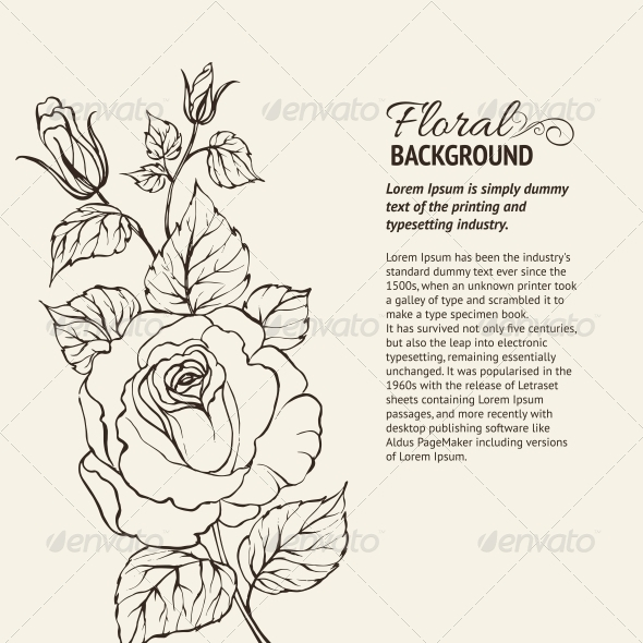 GraphicRiver Silhouette of Rose 4410666