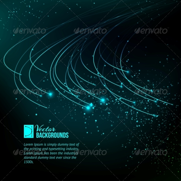 GraphicRiver Abstract Blue Lights 4410749