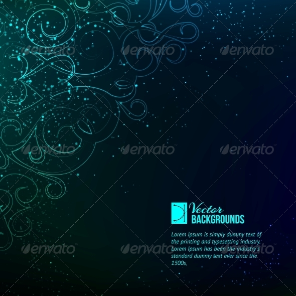 GraphicRiver Abstract Blue Lights 4410874