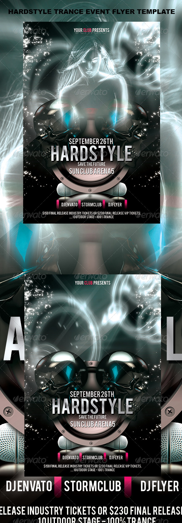 GraphicRiver Hardstyle Trance Event Flyer Template 4410879