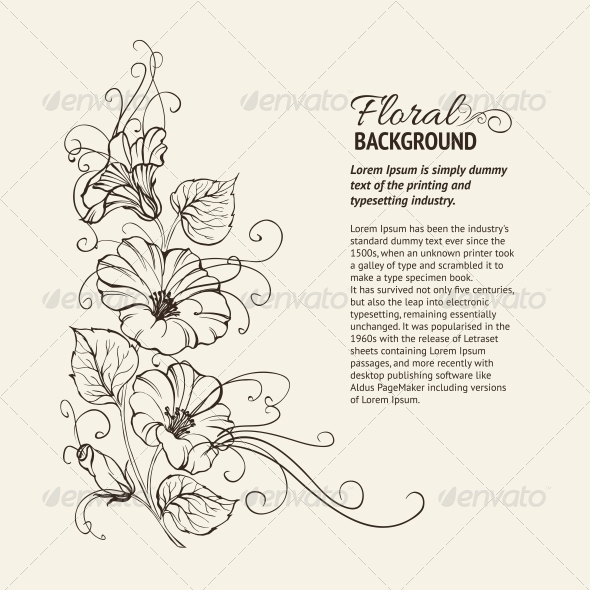 GraphicRiver Bindweed on a Sepia Background 4410881