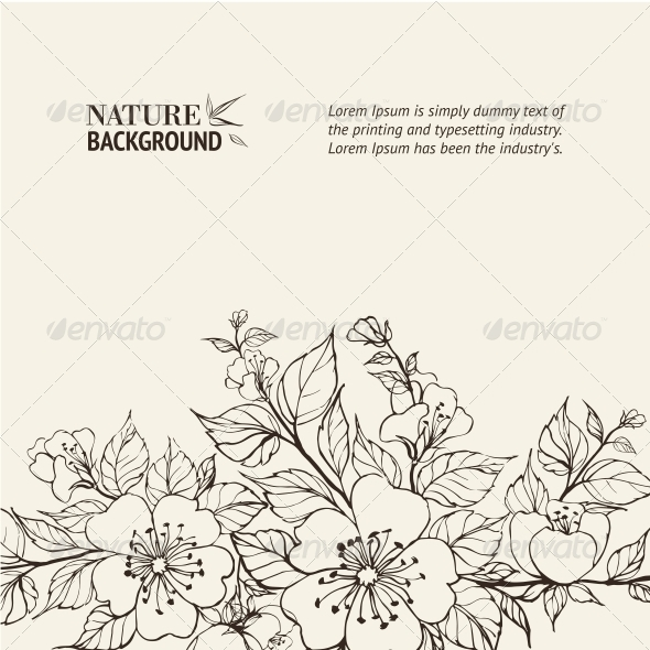 GraphicRiver Flower Background 4410901