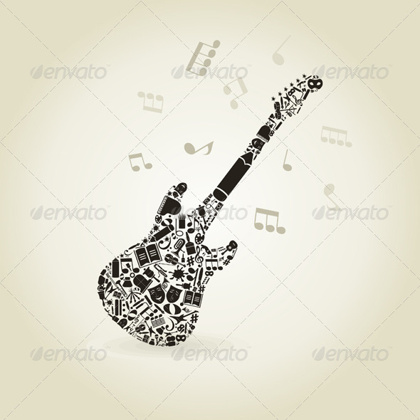 GraphicRiver Art a Guitar 4411057