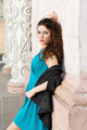 Brunette in blue dress - PhotoDune Item for Sale