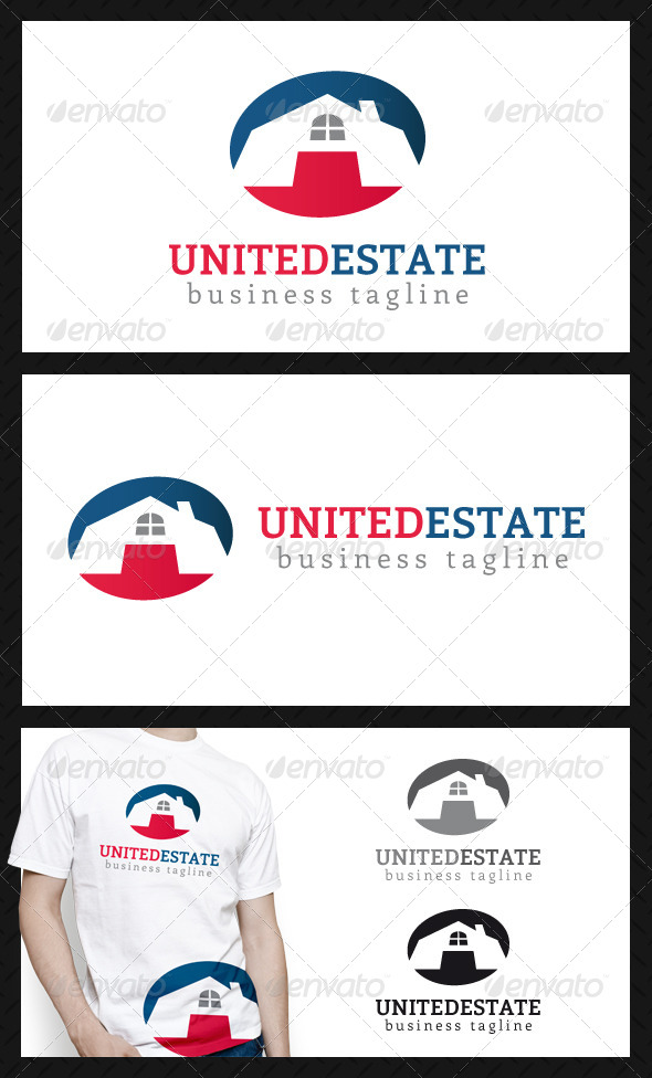 United Real Estate Logo Template