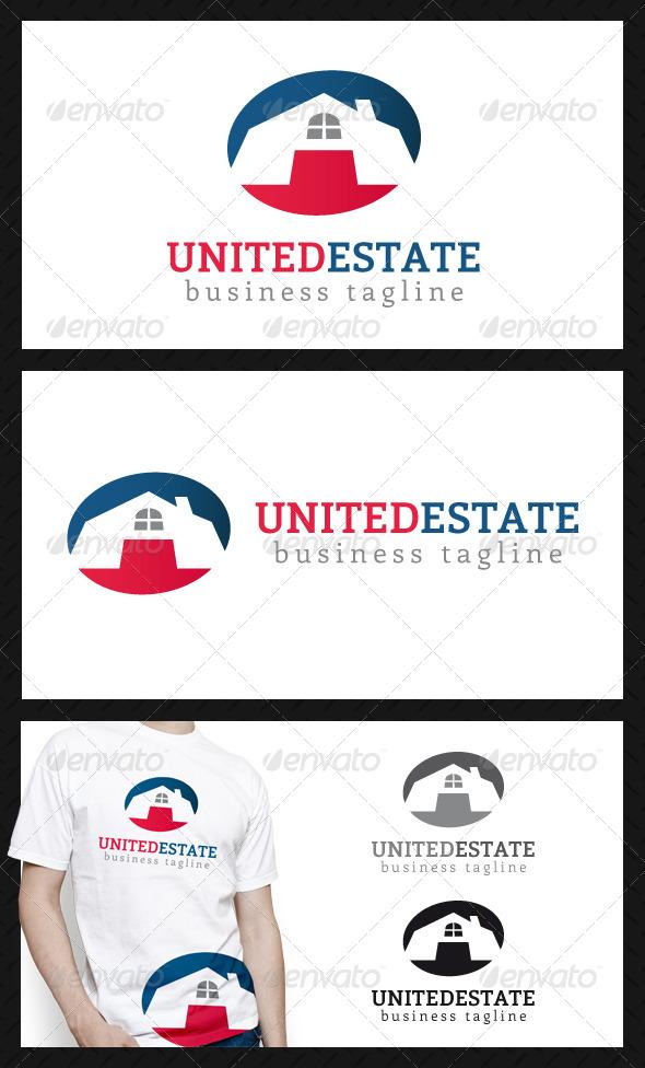 United Real Estate Logo Template