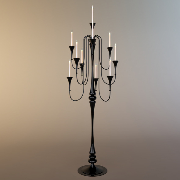 Glass Standard Lamp - 3DOcean Item for Sale