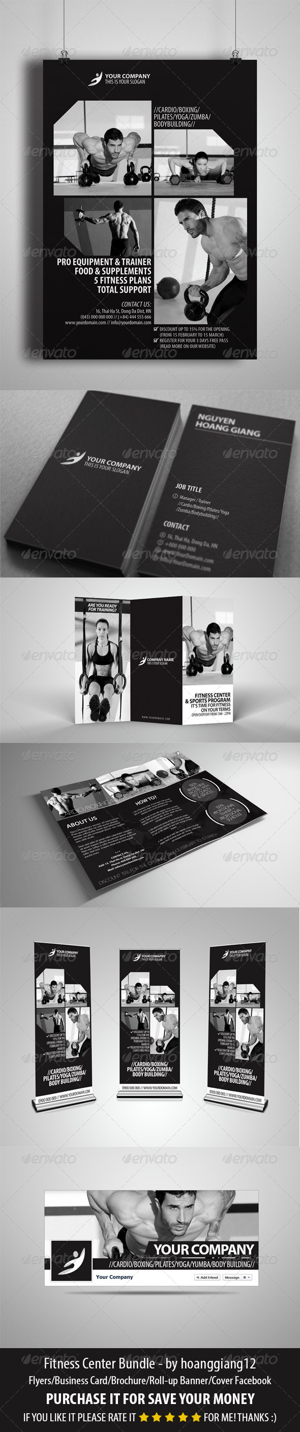 GraphicRiver Fitness Center Bundle 4302019