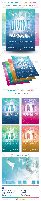 GraphicRiver Resurrection Celebration Church Flyer Template 4412266