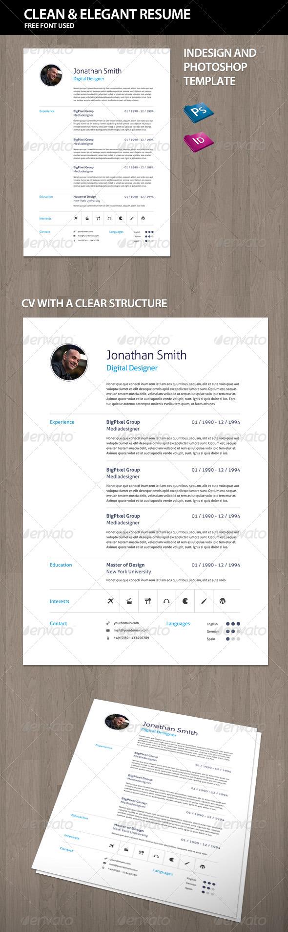 GraphicRiver Elegant Curriculum Vitae CV Resume 4412794
