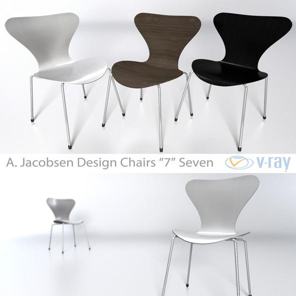 3DOcean Arne Jacobsen 7 chair 4413085