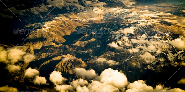 Aerial Mountains - Stock Photo - Images