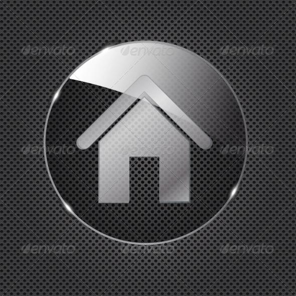 GraphicRiver Glass Home Button 4413101
