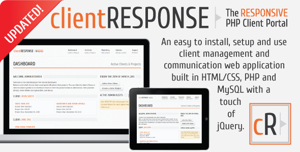clientResponse Responsive PHP Client Management - CodeCanyon Item for Sale