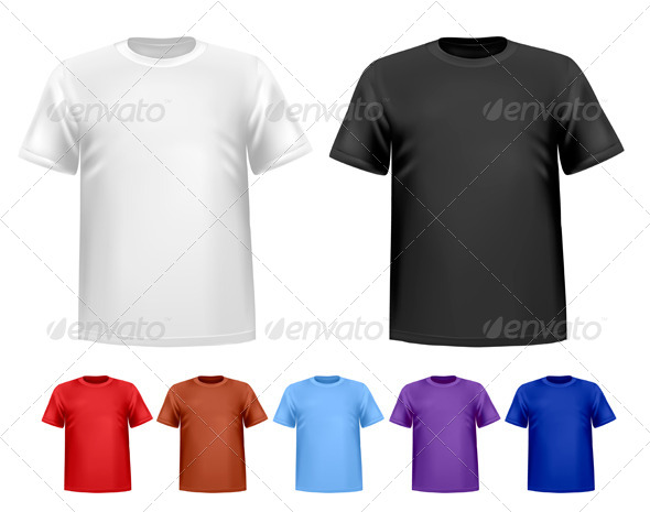 GraphicRiver Men s T-Shirt Design Template 4413630
