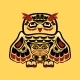 North American Native Art, Owl - GraphicRiver Item for Sale