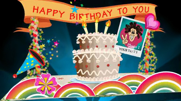 birthday card pop up v by jackstriker  videohive, Birthday card