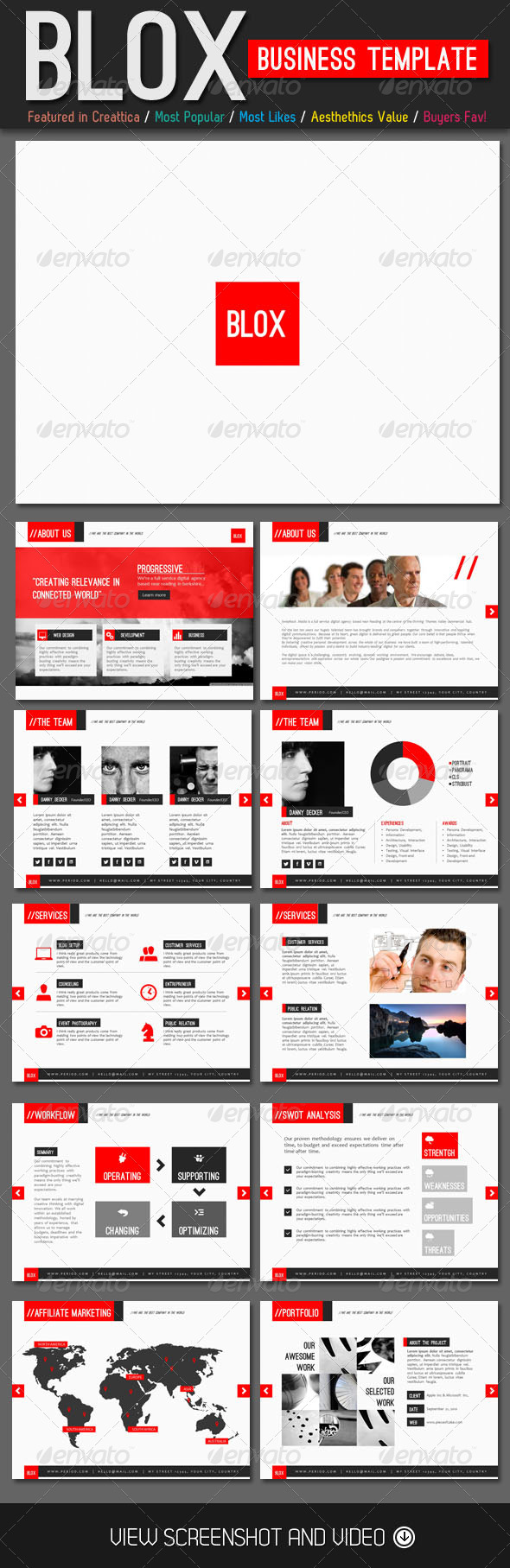GraphicRiver Blox Business PowerPoint Template 4413859