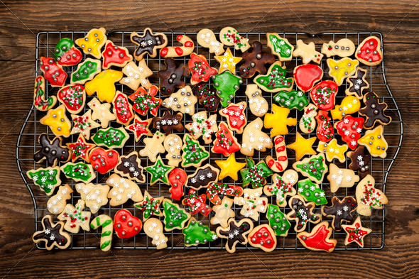 Homemade Christmas cookies - Stock Photo - Images