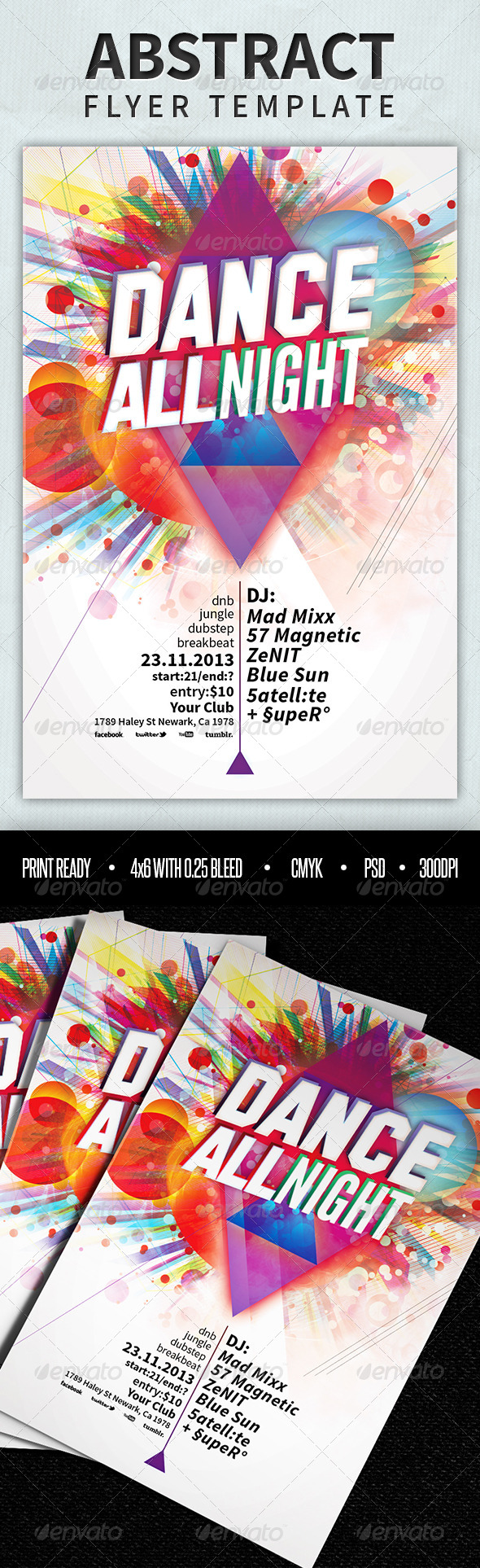 GraphicRiver Abstract Flyer Template 4024504