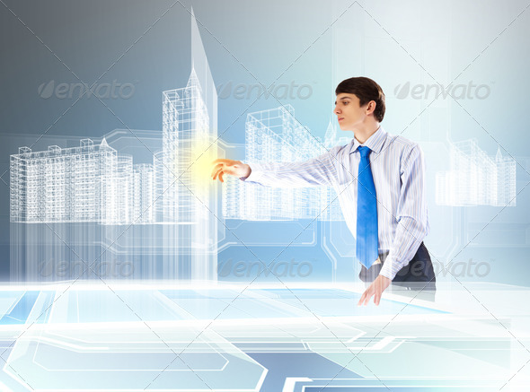 Construction and innovation technologies - Stock Photo - Images