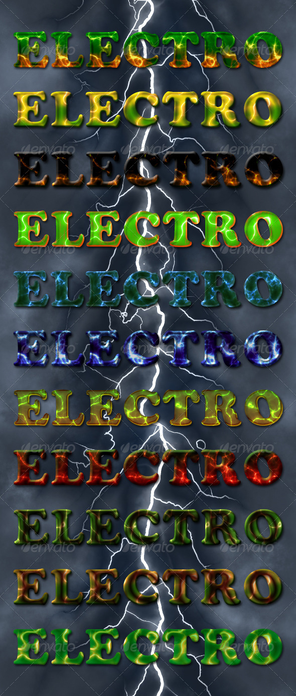 GraphicRiver Electro Photoshop Text Styles 4414201