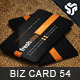 Business Card Design 54 - GraphicRiver Item for Sale