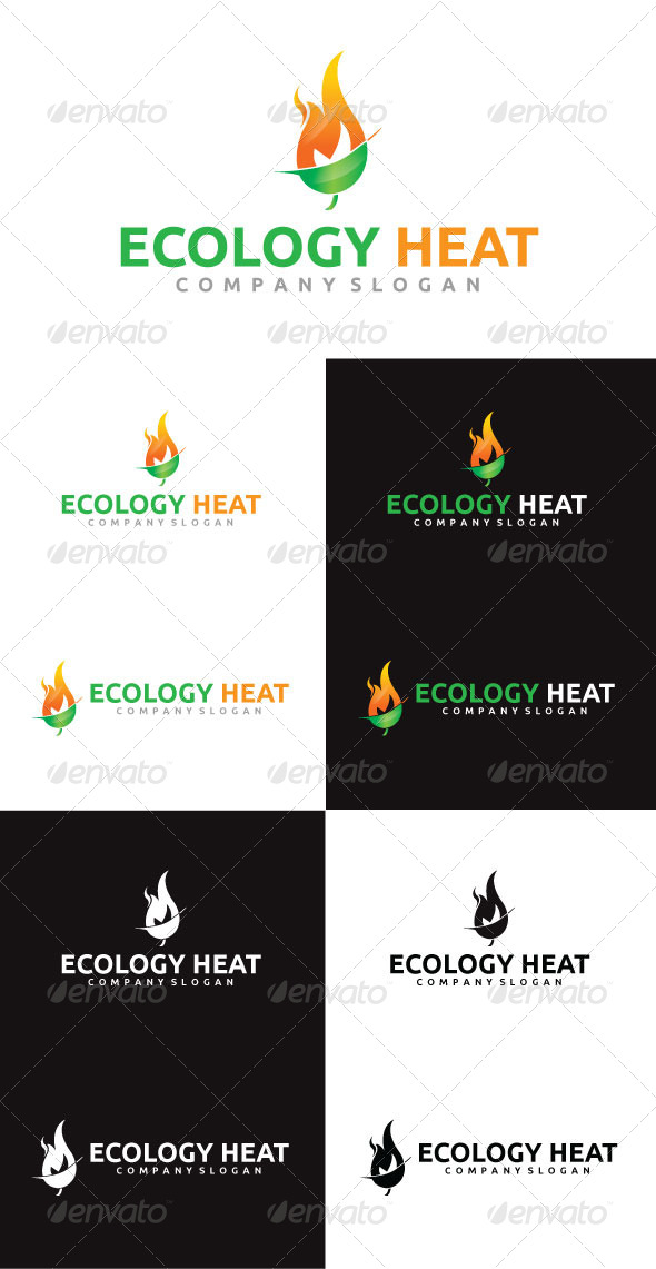 GraphicRiver Ecology Heat Logo Template 4292428