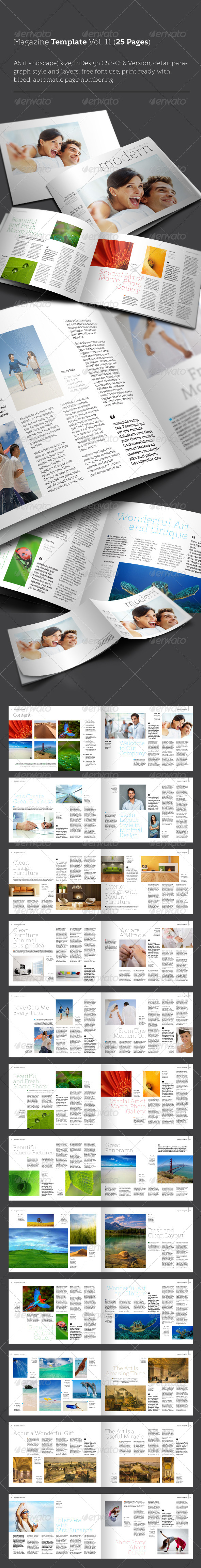 GraphicRiver InDesign Magazine Template Vol 11 25 Pages 4414358