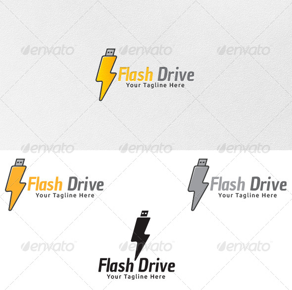 GraphicRiver Flash Drive Logo Template 4336083