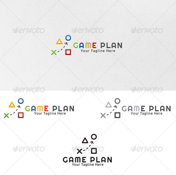 GraphicRiver Game Plan Logo Template 4331537