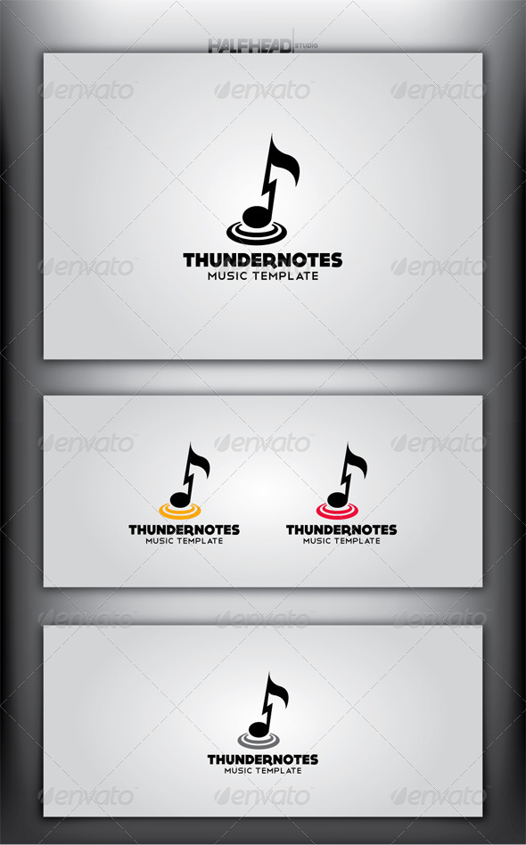 GraphicRiver THUNDER NOTES Logo Template 4414985