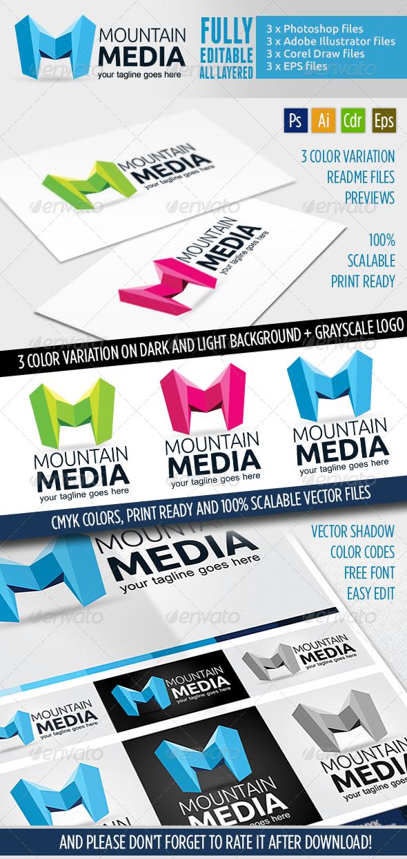 GraphicRiver Montaine Media Logo Template 4328713