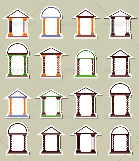 GraphicRiver Set of Different Arches 4415111