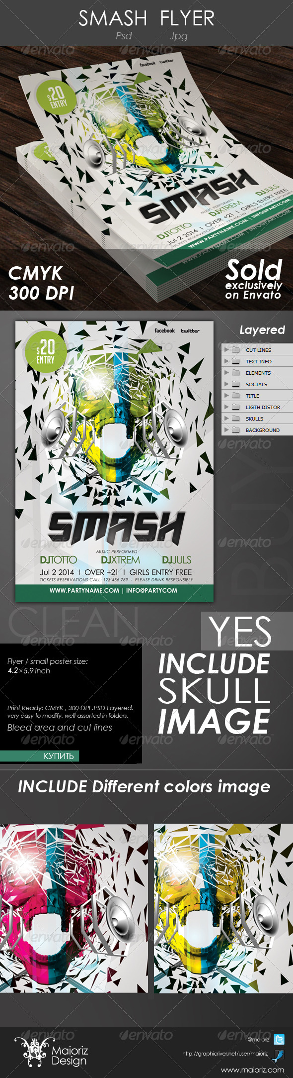 GraphicRiver Smash Party Flyer 4304149