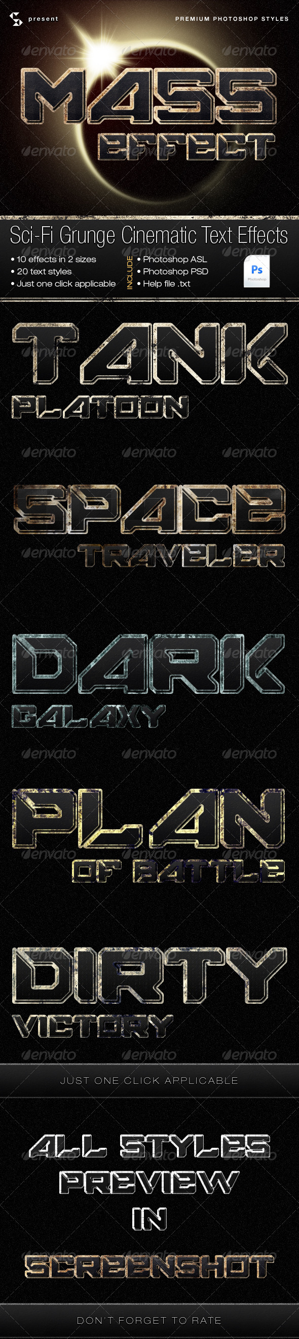 GraphicRiver Sci-Fi Grunge Cinematic Text Effects 4415843