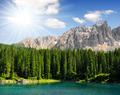 Carezza lake, Val di fassa, Dolomites, Italy