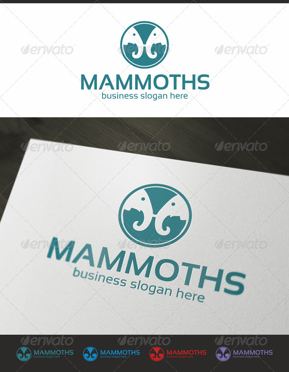 GraphicRiver Two Mammoths 4339205