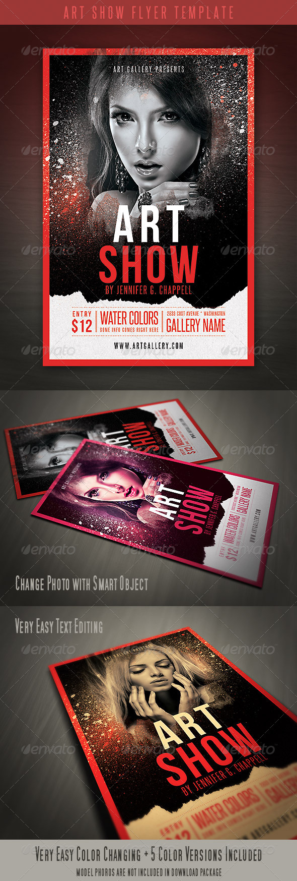 GraphicRiver Art Show Flyer Template 4416045