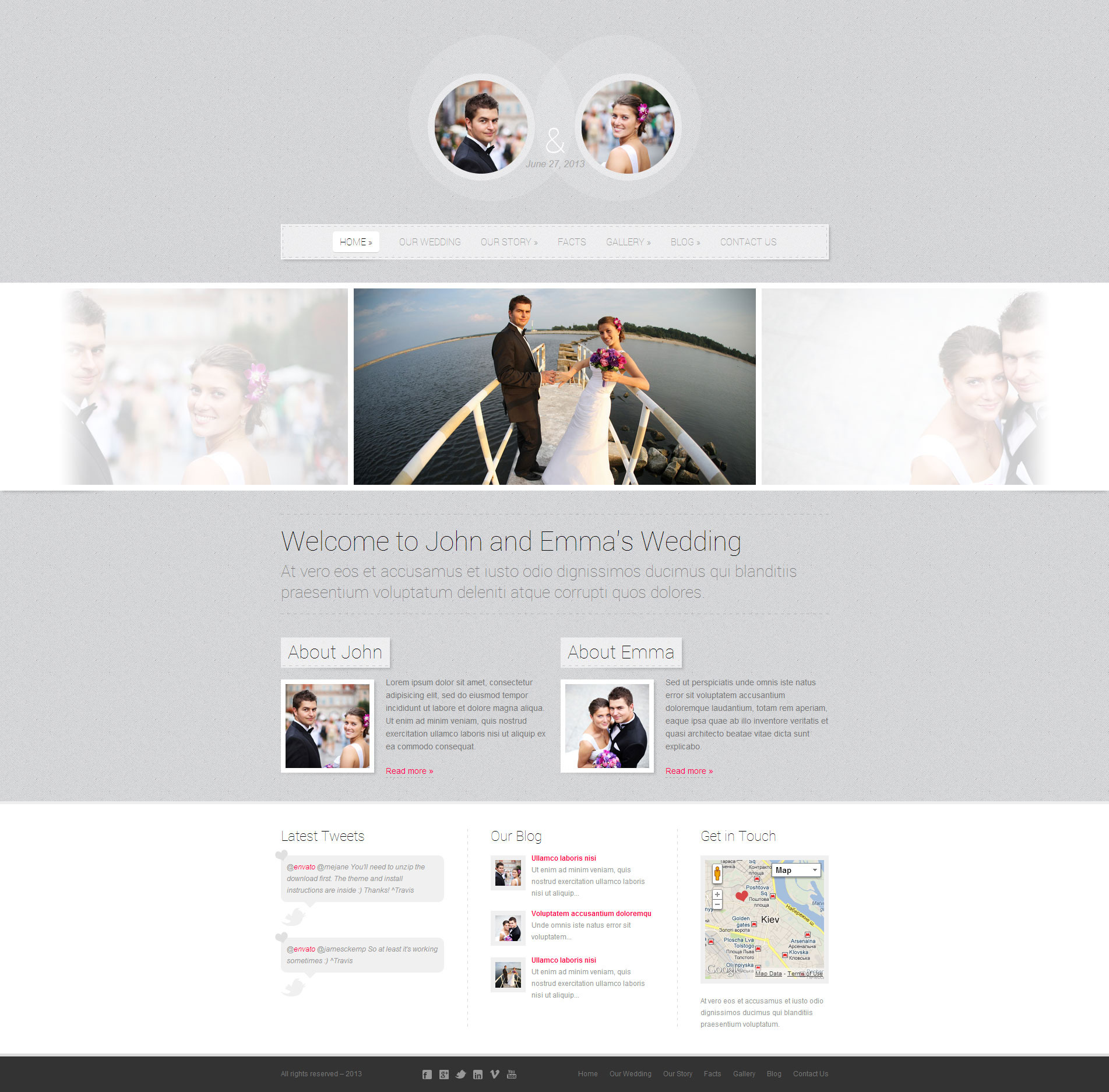 Getting Married - Responsive Wordpress Theme