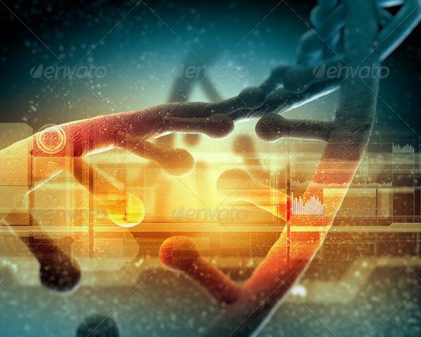 DNA molecule - Stock Photo - Images