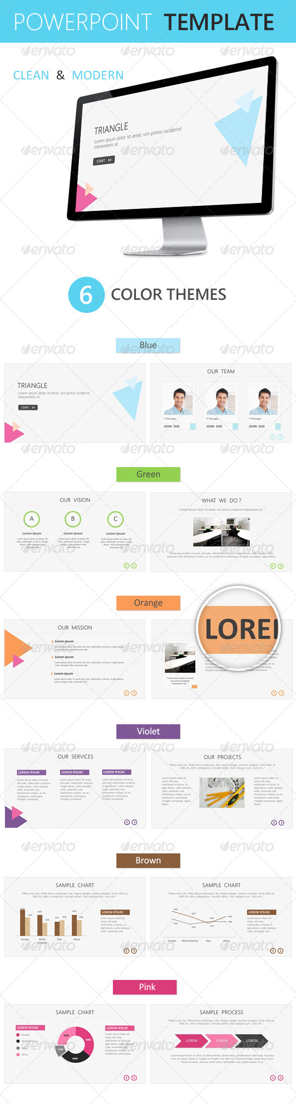 GraphicRiver Triangle Powerpoint Template 4416483