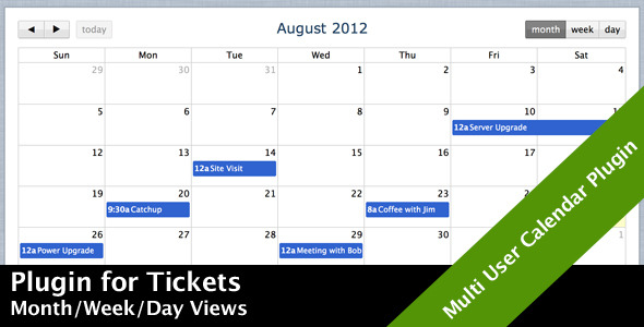 Tickets Plugin: Calendar - CodeCanyon Item for Sale