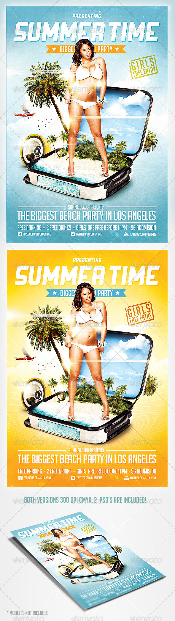 GraphicRiver Summer Time Party Flyer 4416824