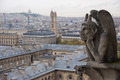 Stone gargoyle overlooking Paris from the Notre Dame - PhotoDune Item for Sale